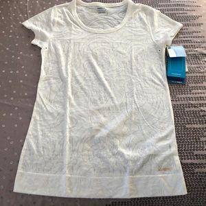 Reebok Regular Fit Play Dry White Burnout Tee